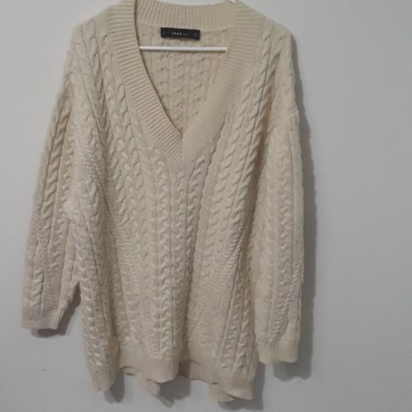 Zara Dresses & Skirts - Zara oversized chunky sweater dress